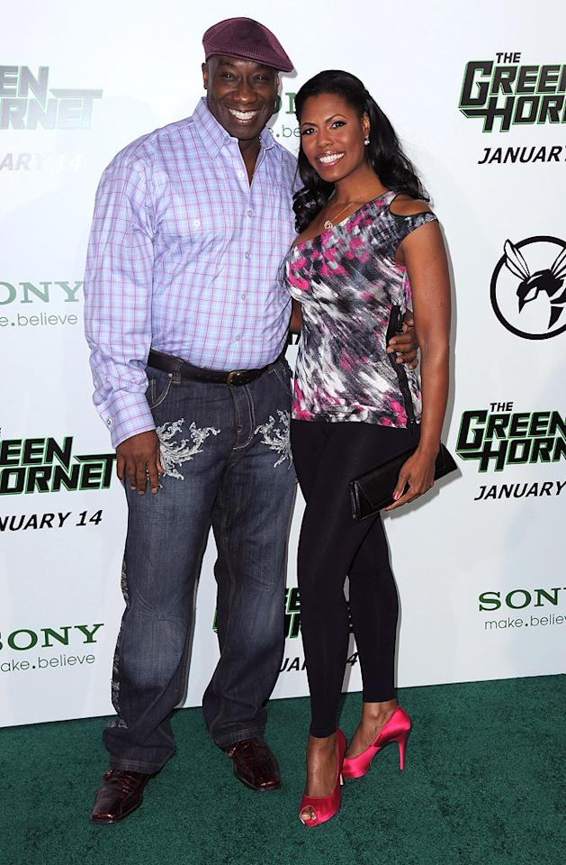 """<a href=""""http://movies.yahoo.com/movie/contributor/1800308214"""">Michael Clarke Duncan</a> and Omarosa Manigault-Stallworth attend the Los Angeles premiere of <a href=""""http://movies.yahoo.com/movie/1808411967/info"""">The Green Hornet</a> on January 10, 2011."""