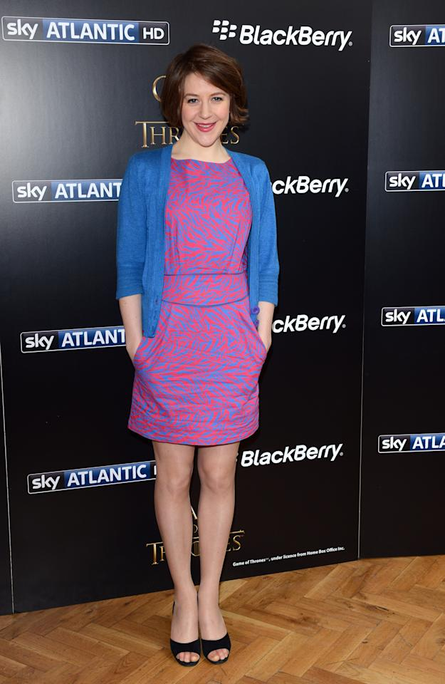 LONDON, UNITED KINGDOM - MARCH 26: Gemma Whelan attends the season launch of 'Game of Thrones' at One Marylebone on March 26, 2013 in London, England. (Photo by Karwai Tang/Getty Images)