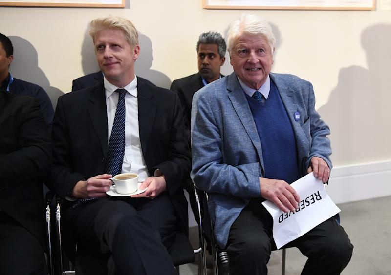 Boris Johnson's brother Jo (left) and his father Stanley attend the launch of his leadership campaign (Photo by Stefan Rousseau/PA Images via Getty Images)