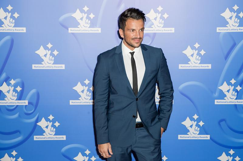 Peter Andre at the National Lottery stars event in 2015 (Credit: by Vianney Le Caer/Invision/AP)