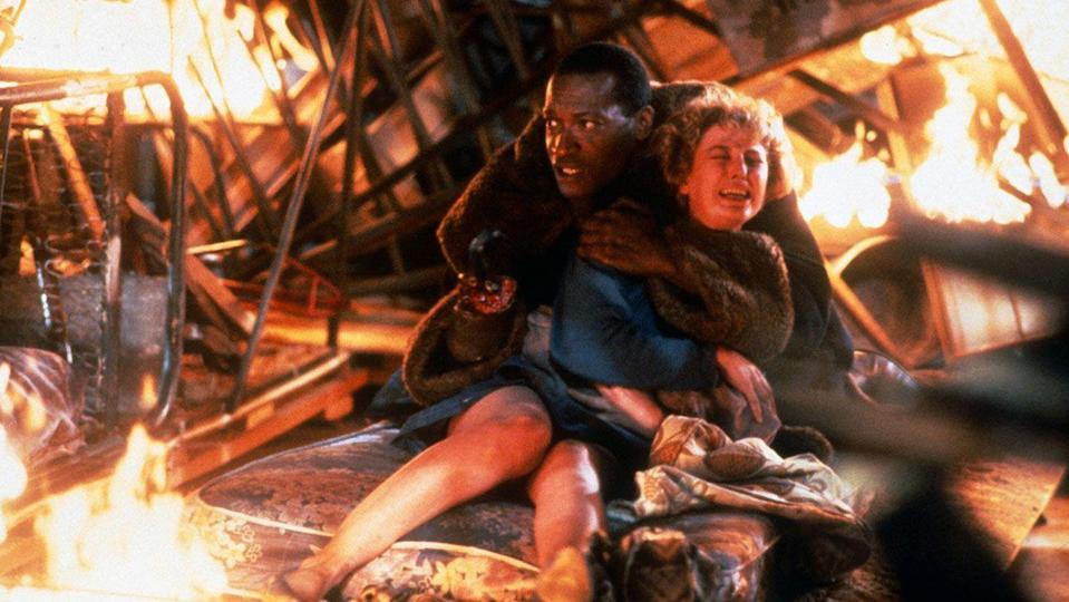 <p><strong>IMDb says:</strong> The Candyman, a murderous soul with a hook for a hand, is accidentally summoned to reality by a skeptic grad student researching the monster's myth.</p><p><strong>We say: </strong>Don't pretend you haven't got to four 'Candymans' before chickening out...</p>
