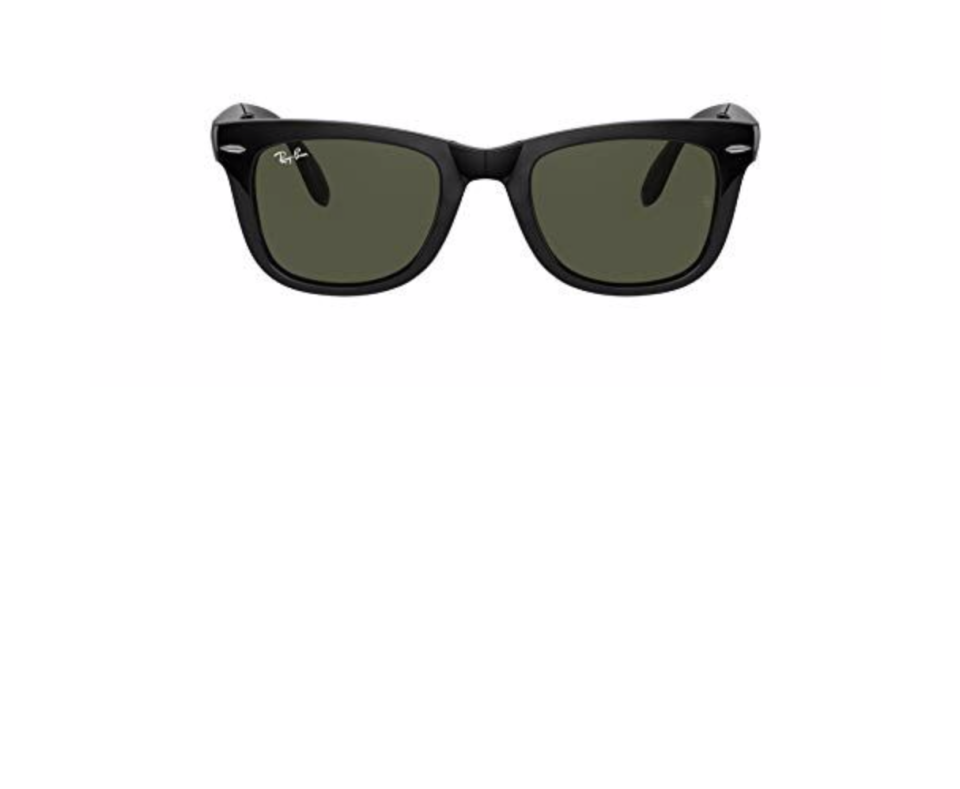 """<p><strong>Ray-Ban</strong></p><p>amazon.com</p><p><a href=""""https://www.amazon.com/dp/B001UQ71PU?tag=syn-yahoo-20&ascsubtag=%5Bartid%7C2139.g.36477804%5Bsrc%7Cyahoo-us"""" rel=""""nofollow noopener"""" target=""""_blank"""" data-ylk=""""slk:BUY IT HERE"""" class=""""link rapid-noclick-resp"""">BUY IT HERE</a></p><p><del>$161.00</del><strong><br>$153.00</strong></p><p>The classic wayfarer never goes out of style. This still is considered one of the most universally <a href=""""https://www.menshealth.com/style/g19546704/best-sunglasses-for-men/"""" rel=""""nofollow noopener"""" target=""""_blank"""" data-ylk=""""slk:flattering sunglasses"""" class=""""link rapid-noclick-resp"""">flattering sunglasses</a> for every man's face shape. </p>"""