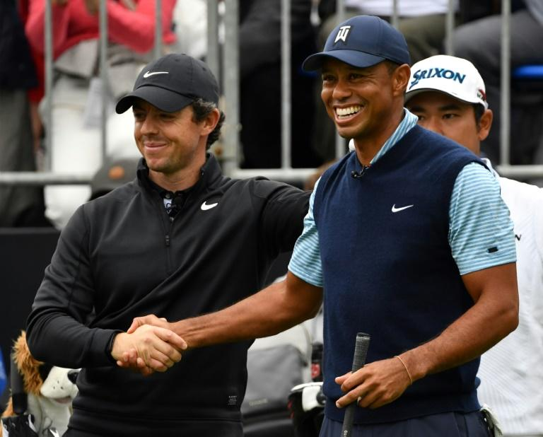 Tiger Woods will have world number one Rory McIlroy for company for the first two rounds at the Memorial Tournament this week