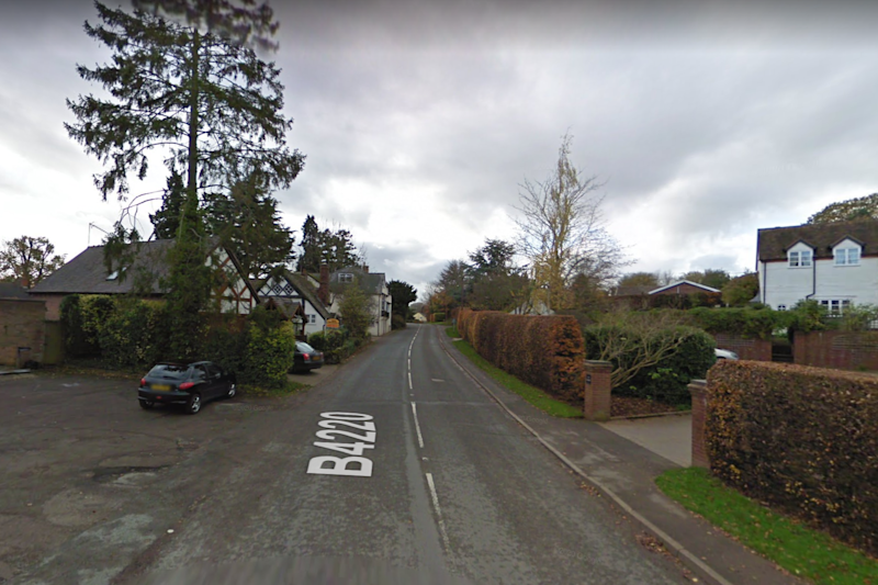 The village of Cradley in Herefordshire: Google Maps
