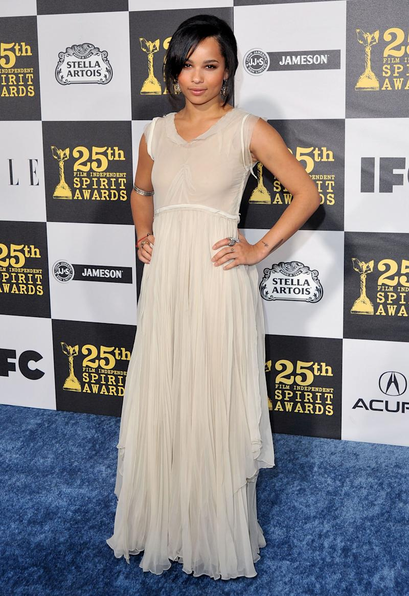 Kravitz arrives at the 25th Film Independent Spirit Awards held at Nokia Theatre LA Live on March 5, 2010