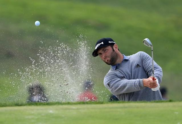 Spain's third-ranked Jon Rahm fired a seven-under par 65 Saturday to seize the lead at the US PGA Farmers Insurance Open (AFP Photo/Sean M. Haffey)