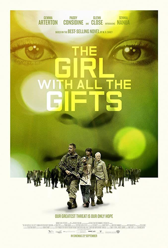 """<p>""""Zombies"""" are """"hungries"""" in this British film based on Mike Carey's <a href=""""https://www.amazon.com/Girl-All-Gifts-M-Carey/dp/0316278157?tag=syn-yahoo-20&ascsubtag=%5Bartid%7C2139.g.33806180%5Bsrc%7Cyahoo-us"""" rel=""""nofollow noopener"""" target=""""_blank"""" data-ylk=""""slk:novel of the same name"""" class=""""link rapid-noclick-resp"""">novel of the same name</a>. Another great contemporary take on the genre. </p>"""