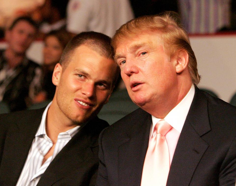 Tom Brady and Donald Trump in 2005 (Getty Images)