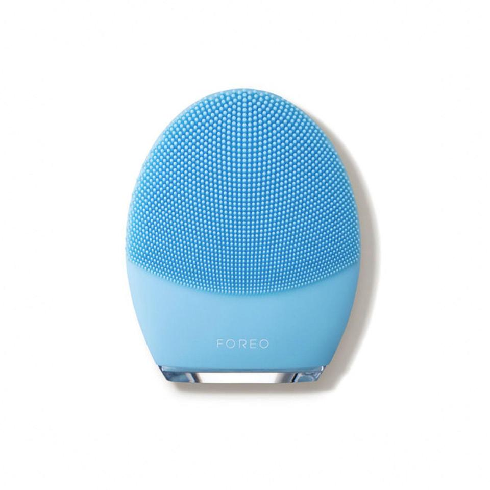 """Don't neglect your moneymaker. When it comes to cleansing, skin-care devices can get your face cleaner than the average cleanser, and the Foreo Luna 3 is best-selling for a reason. The silicone touch points lift away dirt, oil, and excess sebum while providing a firming massage—just another reason to hit """"play"""" on one more episode of <a href=""""https://www.glamour.com/story/bridgerton-on-netflix-behind-the-scenes?mbid=synd_yahoo_rss"""" rel=""""nofollow noopener"""" target=""""_blank"""" data-ylk=""""slk:Bridgerton"""" class=""""link rapid-noclick-resp""""><em>Bridgerton</em></a>. $199, Foreo. <a href=""""https://shop-links.co/1726726421509925670"""" rel=""""nofollow noopener"""" target=""""_blank"""" data-ylk=""""slk:Get it now!"""" class=""""link rapid-noclick-resp"""">Get it now!</a>"""
