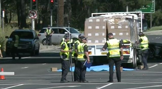 The truck driver is assisting police with their investigation. Photo: 7 News
