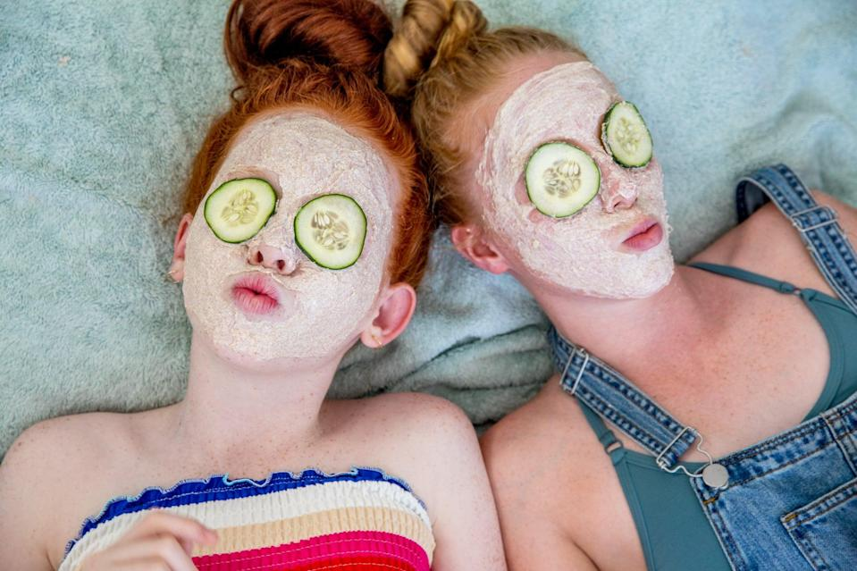 """<p>Teens dig spa parties. It makes them feel adult and pampered - hello, sheet masks and pedicures. Step it up a notch and provide cucumber slices for their eyes while they lounge about. You can hand out slippers or nail polishes as party favors. Why not dedicate some time to a <a class=""""link rapid-noclick-resp"""" href=""""https://www.popsugar.com/DIY"""" rel=""""nofollow noopener"""" target=""""_blank"""" data-ylk=""""slk:DIY"""">DIY</a> and make a sugar scrub or bath bombs?</p>"""