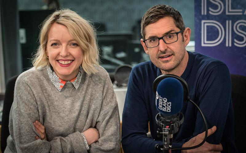 Lauren Laverne, the host of Radio 4's Desert Island Discs, alongside Louis Theroux, a guest on the programme. - Amanda Benson/BBC Radio 4
