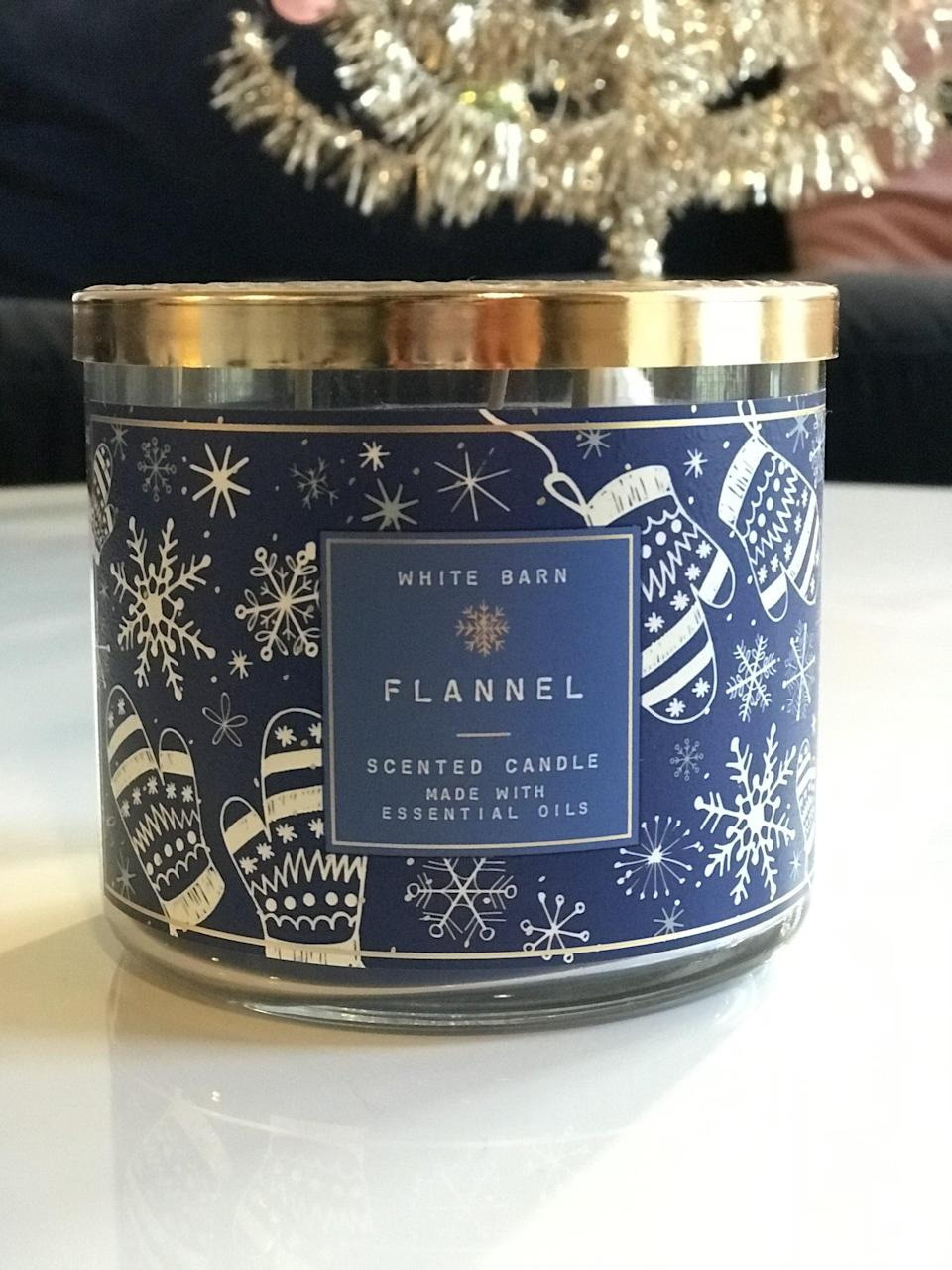 <p><span>Flannel 3-Wick Candle</span> ($15, originally $25)</p> <p><strong>What It Smells Like:</strong> Warm and fluffy laundry fresh out of the dryer.</p>