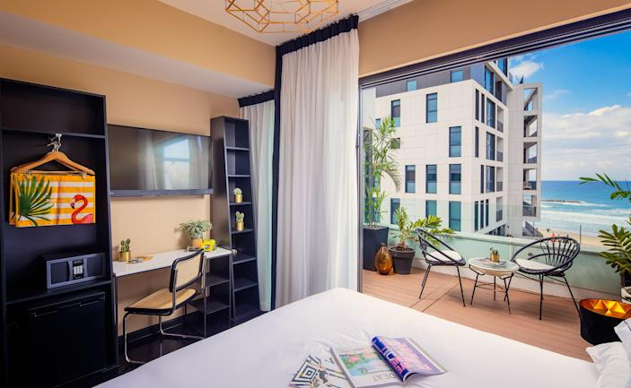 """During the pandemic Tel Aviv–based <a href=""""https://brownhotels.com/"""" rel=""""nofollow noopener"""" target=""""_blank"""" data-ylk=""""slk:Brown Hotels"""" class=""""link rapid-noclick-resp"""">Brown Hotels</a> launched Brown Living, a long-term stay program available across 15 of the 20 Brown Hotels properties. The results? A range of residences in Tel Aviv and Jerusalem that offer all the comforts of home. Starting at $1,000 per month, the hotels on the Brown Living roster range from Dave Downtown, which is geared toward creatives and offers adjoining art studios, to the super-luxurious Brown Beach House (shown), where rooms feature sun terraces overlooking the sea and outdoor hot tubs. For more information on Israel's evolving COVID-19 travel protocols, visit <a href=""""http://www.gov.il"""" rel=""""nofollow noopener"""" target=""""_blank"""" data-ylk=""""slk:www.gov.il"""" class=""""link rapid-noclick-resp"""">www.gov.il</a>."""