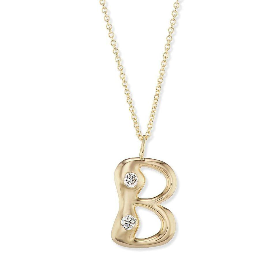 """<p><strong>Breant Neale</strong></p><p>brentneale.com</p><p><strong>$2850.00</strong></p><p><a href=""""https://brentneale.com/products/bubble-letter-pendant-with-precious-stones"""" rel=""""nofollow noopener"""" target=""""_blank"""" data-ylk=""""slk:Shop Now"""" class=""""link rapid-noclick-resp"""">Shop Now</a></p><p>Brent is a mom of three kids and her designs have a whimsical, childlike quality about them. When she introduced the bubble letter collection this year it brought me right back to my elementary school years. They are available with or without precious stones and are totally customizable, so you can choose a single letter or spell out an entire name.</p>"""