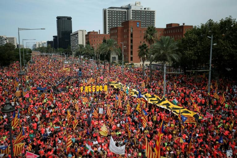 """Catalan president Quim Torra called for an """"endless march"""" for independence for the region"""