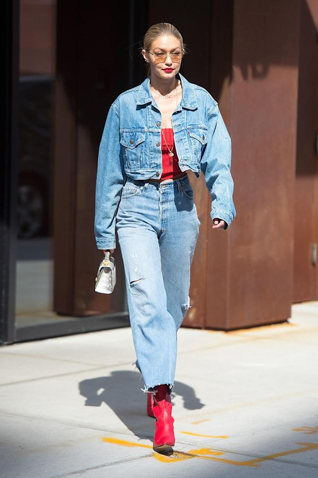 df5c67c0b8 Everyone at Gigi Hadid s 24th Birthday Party Wore Double Denim (Except  Taylor Swift)