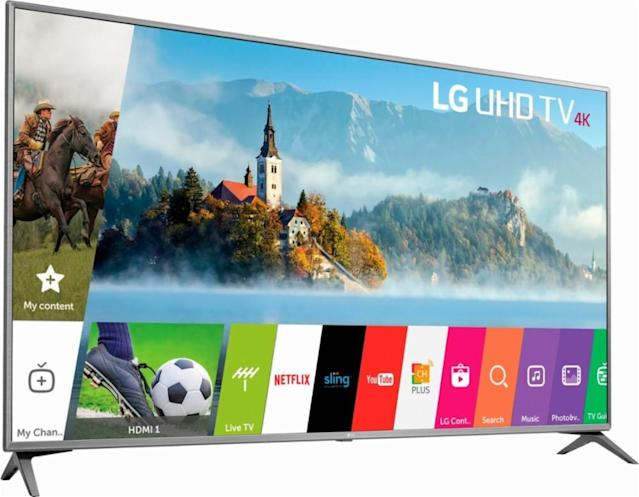 Best Buy is offering a ton of deals on TVs, but is highlighting its LG sets in particular.