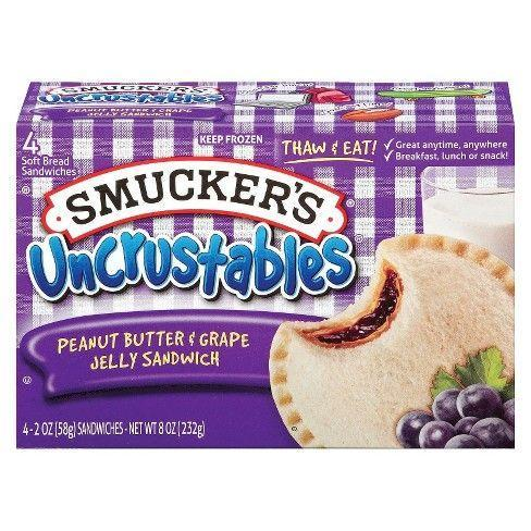 <p>What kid could resist a Smucker's Uncrustable for lunch? An easy twist on PB & J you could take on the go, these pockets of goodness had all the peanut butter and jam fillings of your dreams.</p>