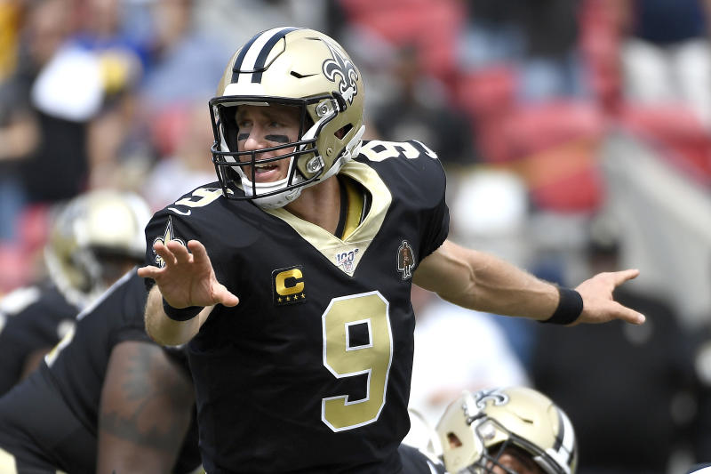 Drew Brees suffered a hand injury against the Rams in Week 2. (Getty Images)