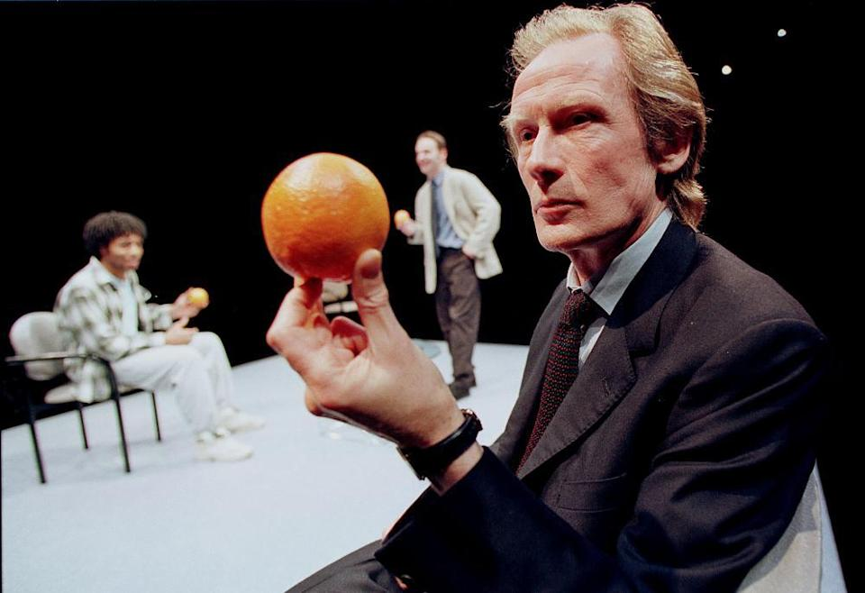 Chiwetel Ejiofor, Andrew Lincoln and Bill Nighy in Joe Penhall's Blue/Orange, directed by Roger Michell at the Cottesloe theatre in 2000.