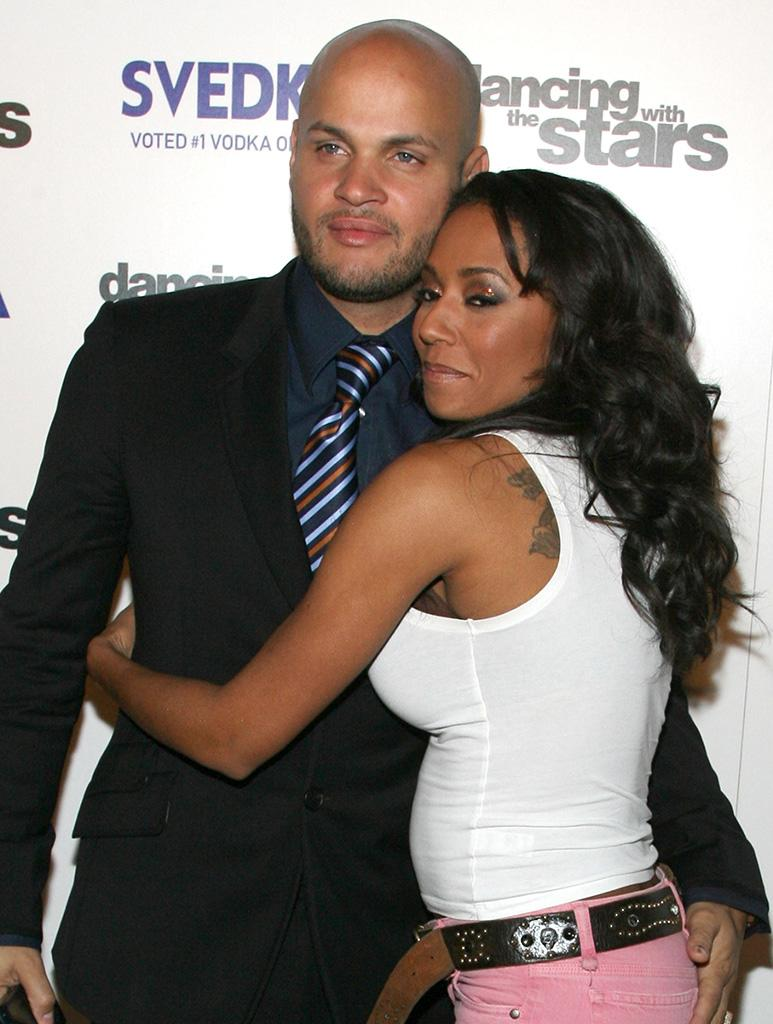 Mel B with husband Belafonte at the Dancing With the Stars . finale afterparty in 2007.