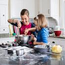"""<p>Sure, pre-made cake and breakfast mixes are super convenient, but they often are pretty pricey and <a href=""""https://www.huffpost.com/entry/bisquick-vs-homemade-pancakes_n_1304878"""" data-ylk=""""slk:many have a variety of partially hydrogenated oils"""" class=""""link rapid-noclick-resp"""">many have a variety of partially hydrogenated oils</a>, which are high in trans fat. According to <em>Huffpost</em>, the difference in <a href=""""https://www.huffpost.com/entry/bisquick-vs-homemade-pancakes_n_1304878"""" data-ylk=""""slk:costs between pre-made mixes and homemade ones is small"""" class=""""link rapid-noclick-resp"""">costs between pre-made mixes and homemade ones is small</a>, but worth it when you consider how many additives you won't have in a homemade mix. </p>"""