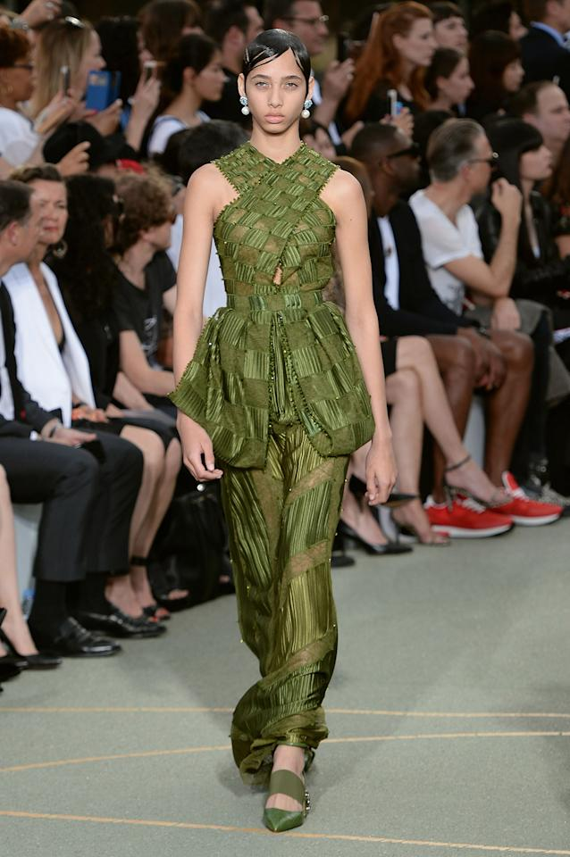 """<p>Because it is a truly great color and sort of looks like the dressMargaret Qualley<span> freaks out in in <a rel=""""nofollow"""" href=""""https://www.youtube.com/watch?v=ABz2m0olmPg"""">that Kenzo perfume ad</a>, which would provide endless chat-show fodder if it were to happen IRL.</span></p>"""