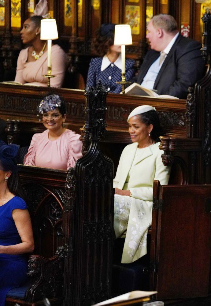 Meghan's friend Benita Litt, seated next to Doria Ragland at the wedding.
