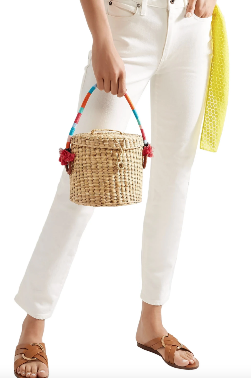 Nannacay Bucket Tasseled Woven Raffia Tote (Photo via The Outnet)