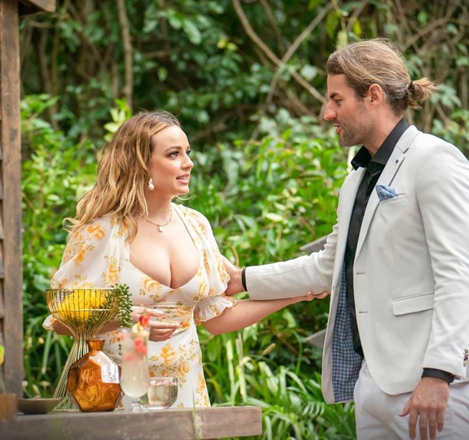 Abbie Chatfield and Ash Williams on 'I'm A Celebrity... Get Me Out Of Here!'  (Photo: Channel 10)
