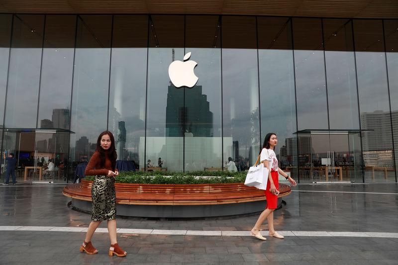 Thailand's first flagship Apple store is seen at Iconsiam shopping mall in Bangkok