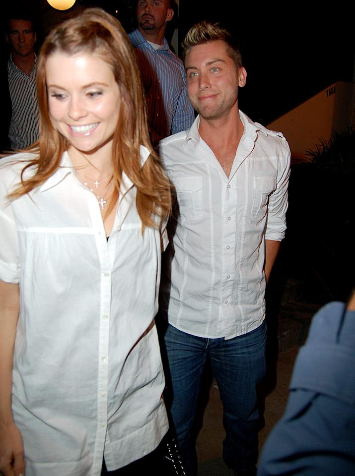 "Lance Bass was also on hand for the restaurant's 1-year anniversary. IAKONA/London Entertainment/<a href=""http://www.splashnewsonline.com"" target=""new"">Splash News</a> - May 12, 2009"