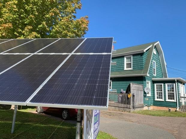 Solar panels are being added and other environmental improvements are being made at 155 homes in Stratford, 139 in Charlottetown, and 100 in Wolfville, N.S., according to the latest numbers from PACE Atlantic. (Laura Meader/CBC - image credit)