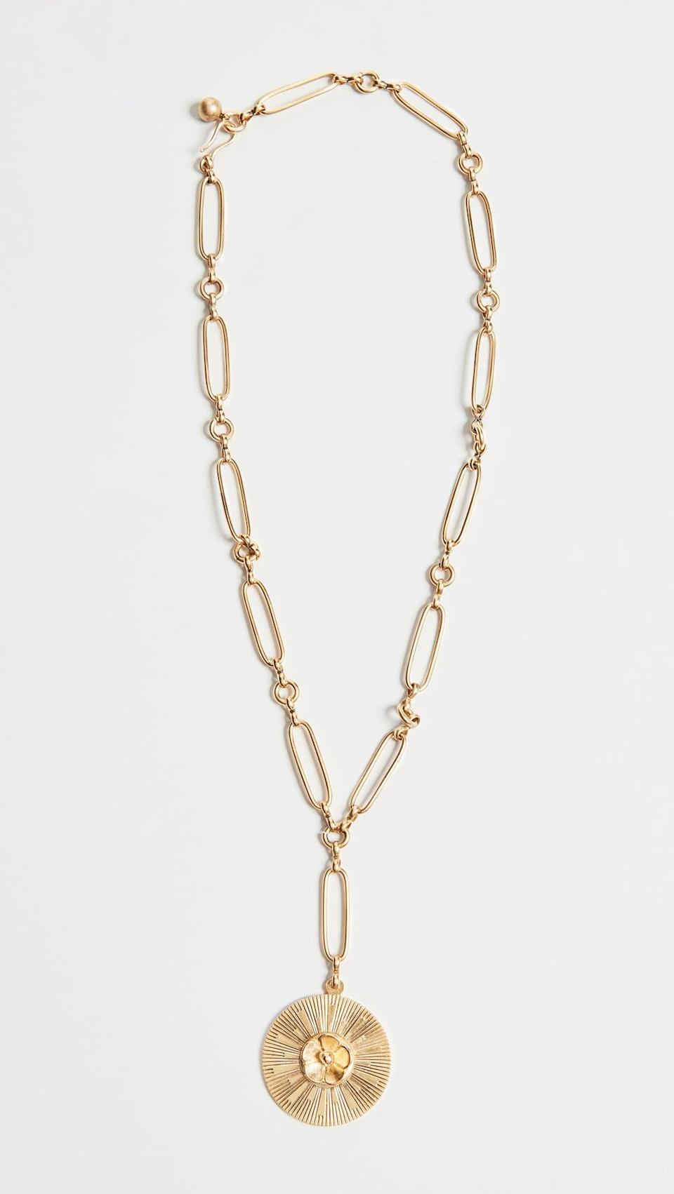 <p>Pair this <span>Brinker &amp; Eliza Sunshine &amp; Lemonade Necklace</span> ($118) with a sultry slip dress.</p>