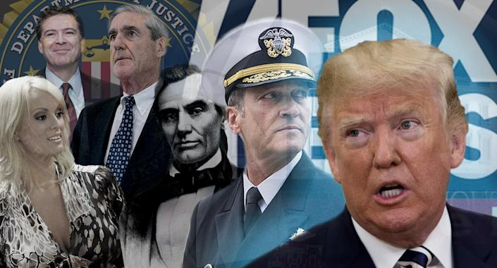 Photo illustration: Yahoo News; photos: AP (5), W.A. Thomson/AP, Tom Williams/CQ Roll Call/Getty Images, Chris Kleponis-Pool/Getty Images