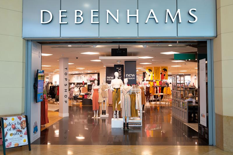 CARDIFF, UNITED KINGDOM - MAY 01: A general view of a Debenhams store in Cardiff on May 1, 2019 in Cardiff, United Kingdom. (Photo by Matthew Horwood/Getty Images)