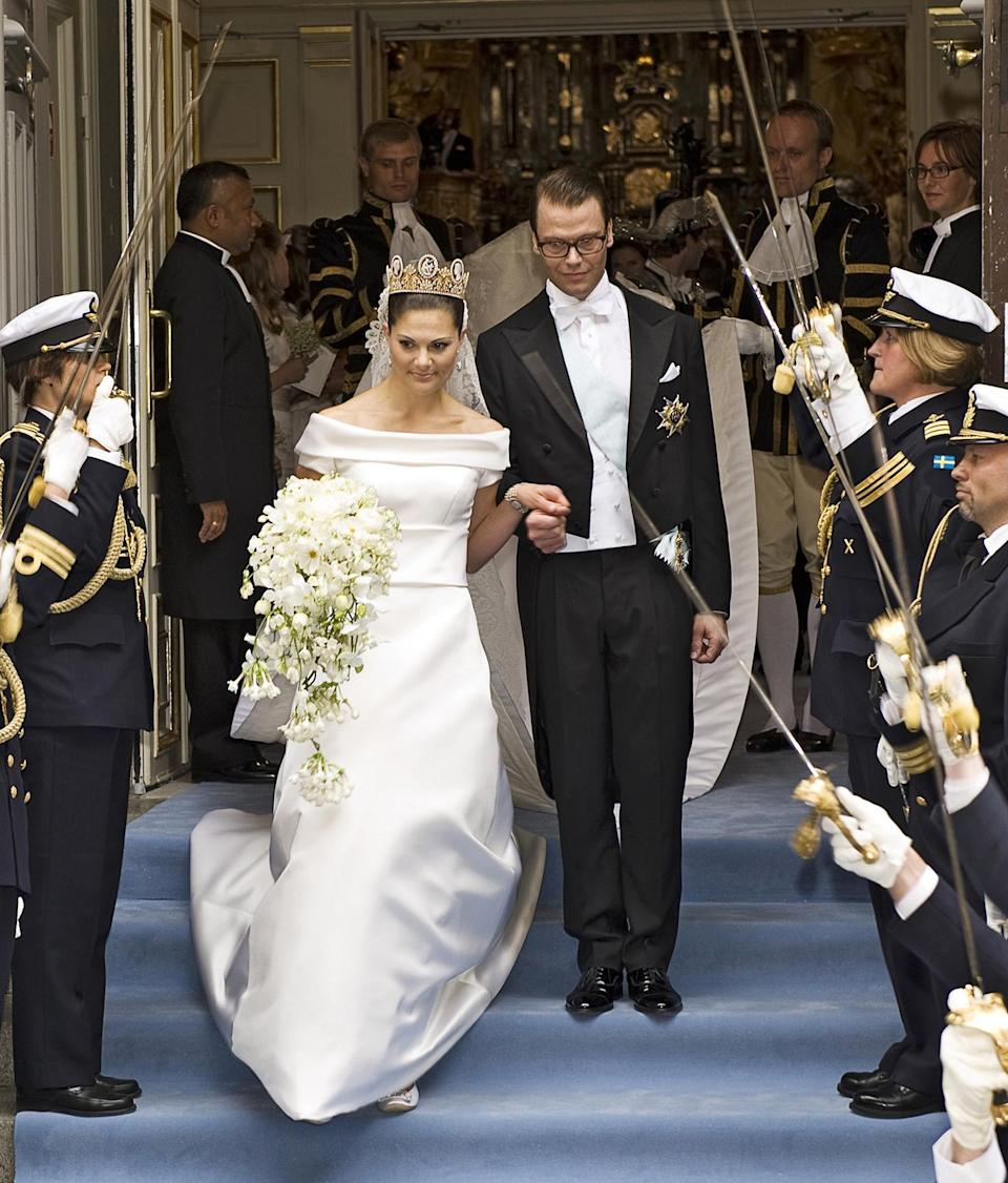 <p><b>The Swedish royals exiting from the Storkyrkan Church after their wedding ceremony in June 2010. (Photo: Getty Images) </b></p>