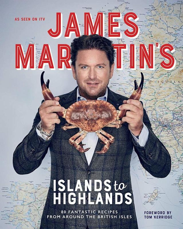 """<p>Release: 19 March 2020</p><p>Celebrating the unique food of the British Isles, James travels around the UK, cooking and eating everywhere from Cornwall to Shetland, and everything in between. </p><p><strong><a class=""""link rapid-noclick-resp"""" href=""""https://www.amazon.co.uk/James-Martins-Islands-Highlands-Fantastic/dp/178713525X/ref=zg_bsnr_66_19?_encoding=UTF8&psc=1&refRID=M0EA0W8PZ5XM4JDSXHHA&tag=hearstuk-yahoo-21&ascsubtag=%5Bartid%7C2159.g.28871146%5Bsrc%7Cyahoo-uk"""" rel=""""nofollow noopener"""" target=""""_blank"""" data-ylk=""""slk:PRE-ORDER"""">PRE-ORDER</a> Islands to Highlands, amazon.co.uk</strong></p>"""