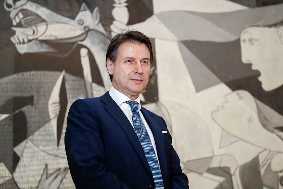 MADRID, SPAIN - JULY 08: The Italian Prime Minister, Giuseppe Conte during their visit to the Museo Nacional Centro de Arte Reina Sofía, together painting, 'Guernica' by Pablo Picasso, on July 08, 2020 in Madrid, Spain. (Photo by Óscar J. Barroso/Europa Press via Getty Images) (Photo: Europa Press News via Getty Images)