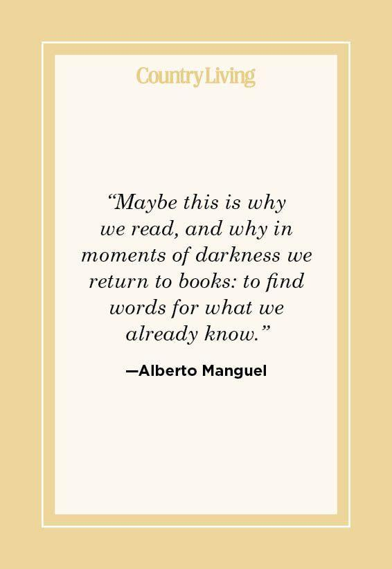 """<p>""""Maybe this is why we read, and why in moments of darkness we return to books: to find words for what we already know."""" </p>"""