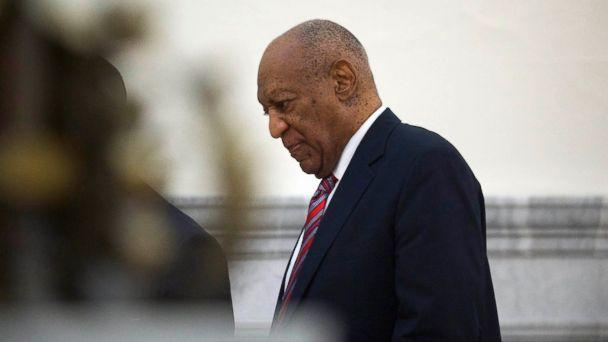 PHOTO: Bill Cosby walks through the Montgomery County Courthouse in Norristown, Pa., June 7, 2017, on the third day of his sexual assault trial. (Mark Makela/Getty Images-Pool Photo via USA TODAY NETWORK)