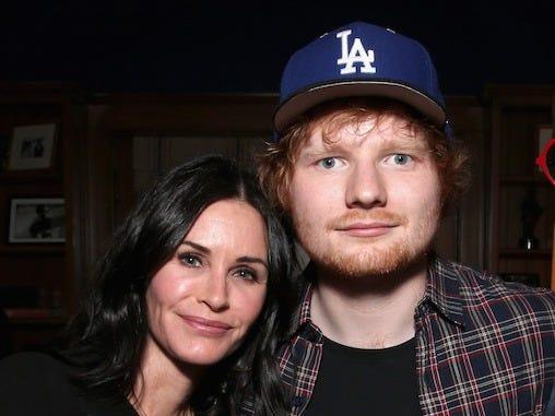 Courteney Cox Ed Sheeran