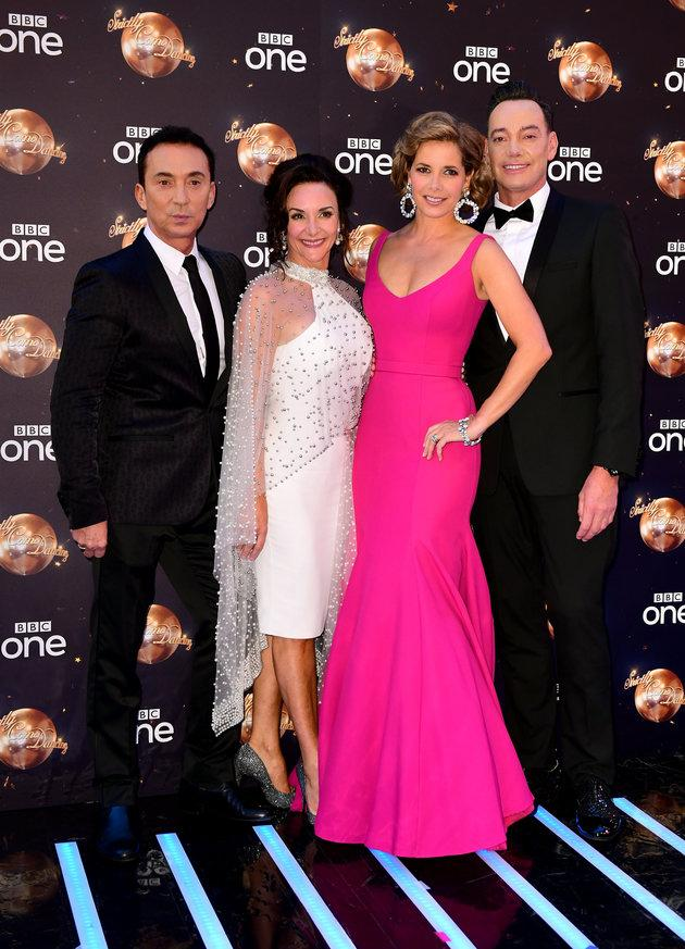 The 'Strictly' judges (l-r) Bruno Tonioli, Shirley Ballas, Darcey Bussell and Craig Revel Horwood