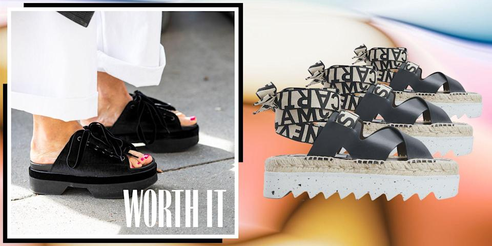 """<p>For the Spring '21 season, flatforms <a href=""""https://www.marieclaire.com/fashion/g34126792/spring-shoe-trends-2021/"""" rel=""""nofollow noopener"""" target=""""_blank"""" data-ylk=""""slk:ruled the runways"""" class=""""link rapid-noclick-resp"""">ruled the runways</a> of brands like Sacai, Altuzarra, and Gabriela Hearst. Equal parts edgy and glamorous, <a href=""""https://www.marieclaire.com/fashion/a29002360/steve-madden-flatform-review/"""" rel=""""nofollow noopener"""" target=""""_blank"""" data-ylk=""""slk:the flatform"""" class=""""link rapid-noclick-resp"""">the flatform</a> is the perfect shoe choice for an elevated warm-weather look. We took note of the oncoming craze and tapped Elizabeth Kanfer, fashion director for Nordstrom, for her take on one of the hottest shoes of the season. </p><p><strong>Marie Claire: Why is a flatform a great choice? </strong></p><p><strong>Elizabeth Kanfer:</strong> As we adjust to a new, more casual lifestyle, flatforms provide the perfect balance of style and comfort. </p><p><strong>MC: How have you seen them evolve? </strong></p><p><strong>EK:</strong> Flatforms became an important Spring '21 trend in a diverse array of styles, from canvas sneakers with flatform bottoms to espadrilles to comfy-footbed sandals. It's a direct response to the tremendous shift our lifestyles have taken in the last year. </p><p><strong>MC: How does a flatform provide both utility and style? </strong></p><p><strong>EK:</strong> The shape allows for ease of movement, and the style can be manipulated for any occasion, whether it's dressed up or pared down. </p><p><strong>MC: What's the best way to break in a new pair? </strong></p><p><strong>EK: </strong>Take it slow and loosen them up with socks at home. </p><p><strong>MC: Why are they worth the purchase? </strong></p><p><strong>EK: </strong>They're so versatile and provide height, which works as a great alternative to heels. Plus, they pair easily with jeans, joggers, and dresses!</p>"""