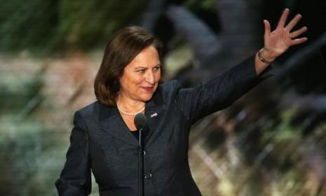 Deb Fischer waves before her Republican National Convention speech on Aug. 28: Once she's sworn in as a senator in January, you can expect to see a whole lot more of Fischer.