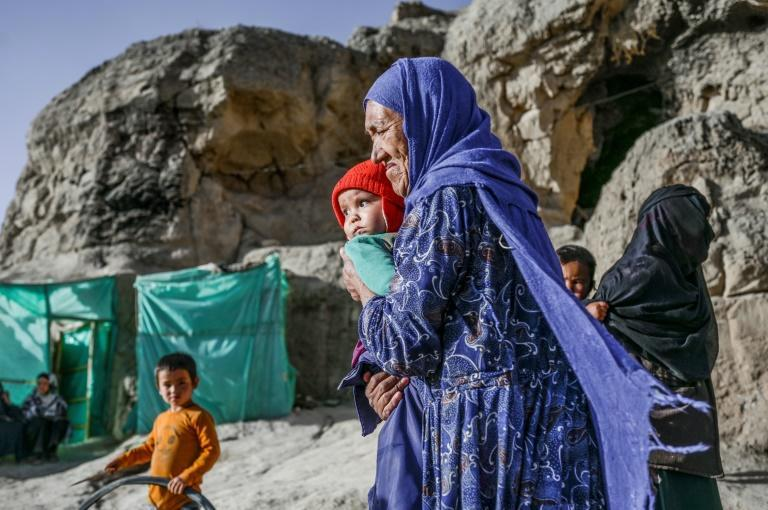 The Taliban takeover of Afghanistan has worsened the economic hardship of the community that lives in the mountainside caves of Bamiyan (AFP/Bulent KILIC)