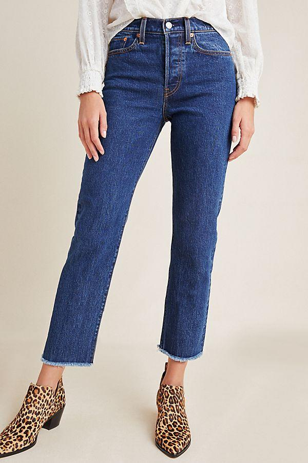 """<h3><a href=""""https://www.anthropologie.com/shop/levis-wedgie-ultra-high-rise-straight-jeans5?category=SHOPBYBRAND&color=047"""" rel=""""nofollow noopener"""" target=""""_blank"""" data-ylk=""""slk:Levi's Wedgie Jeans"""" class=""""link rapid-noclick-resp"""">Levi's Wedgie Jeans</a></h3><br>The iconic denim brand's wedgie-style clocks in as our reader's #1 favorite fit for a <a href=""""https://www.refinery29.com/en-us/best-basics-shopping-guide"""" rel=""""nofollow noopener"""" target=""""_blank"""" data-ylk=""""slk:year-round wardrobe essential"""" class=""""link rapid-noclick-resp"""">year-round wardrobe essential</a> — and you can currently cart the most wanted pair for 30% off. <br><br><strong>Levi's</strong> Levi's Wedgie Ultra High-Rise Straight Jeans, $, available at <a href=""""https://www.anthropologie.com/shop/levis-wedgie-ultra-high-rise-straight-jeans5"""" rel=""""nofollow noopener"""" target=""""_blank"""" data-ylk=""""slk:Anthropologie"""" class=""""link rapid-noclick-resp"""">Anthropologie</a>"""