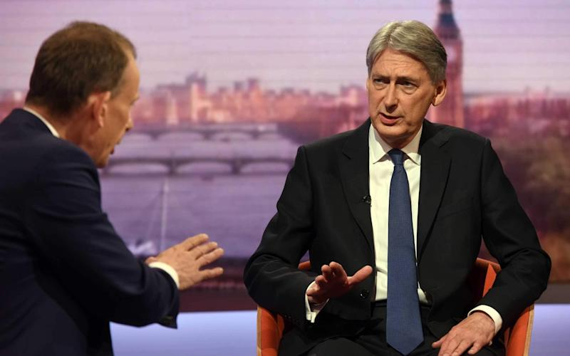 Philip Hammond dismissed speculation of a soft Brexit on the BBC's Andrew Marr Show