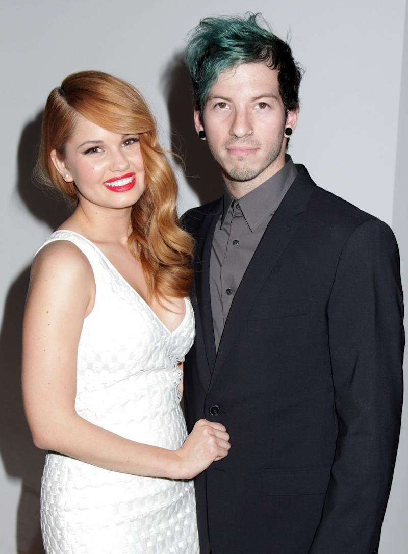 BEVERLY HILLS, CA - MARCH 18: Actress Debby Ryan and musician Josh Dun arriving at the 2nd Annual Norma Jean Gala 2014 at The Paley Center for Media on March 18, 2014 in Beverly Hills, California. (Photo by Paul Redmond/WireImage)